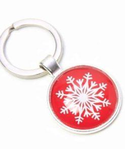 Schlüsselanhänger roter Weihnachtsstern
