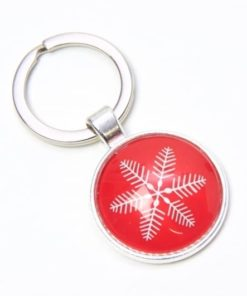 Schlüsselanhänger zarter roter Weihnachtsstern