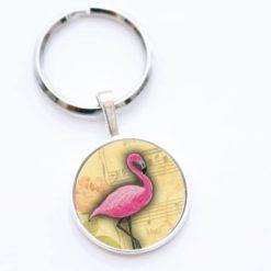 Schlüsselanhänger rosa Flamingo