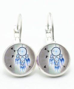 Ohrstecker / Ohrhänger Traumfänger in blau