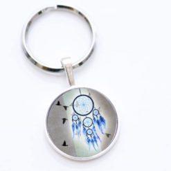 Schlüsselanhänger Traumfänger blau