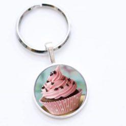 Schlüsselanhänger Cupcake rosa