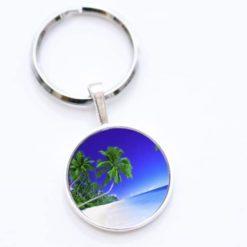 Schlüsselanhänger Palme am Meer
