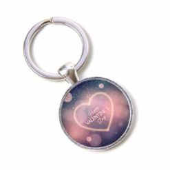 Schlüsselanhänger Happy Valentines Day mit Herz