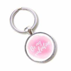 Schlüsselanhänger rosa Be my valentine