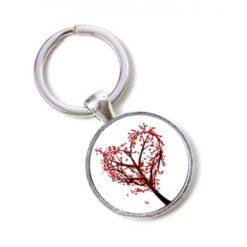 Schlüsselanhänger Herz Baum mit Herzblättern Valentinstag