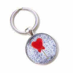 Schlüsselanhänger Love Herz Lolly Schleife Valentinstag