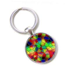 Schlüsselanhänger Mosaik Glasmosaik kunterbunt farbenfroh Puzzle