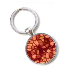 Schlüsselanhänger Mosaik Glasmosaik terracotta Kupfer rot Puzzle