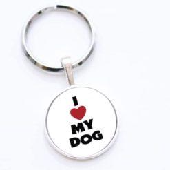 Schlüsselanhänger I love my dog - ich liebe meinen Hund