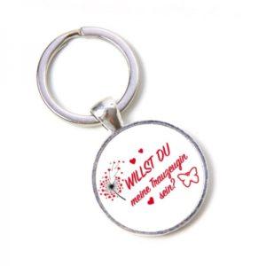 Schlüsselanhänger Willst du meine Trauzeugin sein - Hochzeit, Pusteblume, Herzen