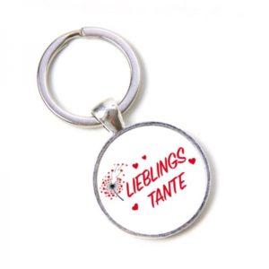 Schlüsselanhänger Lieblings Tante Liebste Tante - Pusteblume, Herzen, Lieblingsmensch