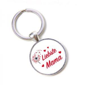 Schlüsselanhänger Liebste Mama - Pusteblume, Herzen, Lieblingsmensch