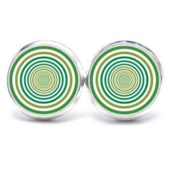 Druckknopf Ohrstecker Ohrhänger grüne Kreise