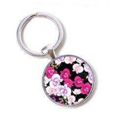 Schlüsselanhänger rosa Orchideen