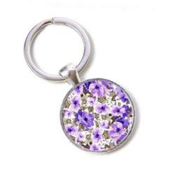Schlüsselanhänger lila Blumenmeer