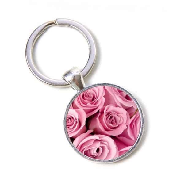 Schlüsselanhänger rosa Rosen