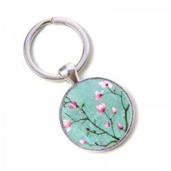 Schlüsselanhänger türkiser Kirschblütenzauber