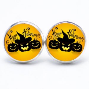 Druckknopf / Ohrstecker / Ohrhänger Happy Halloween