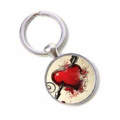 Schlüsselanhänger durchbohrtes Herz