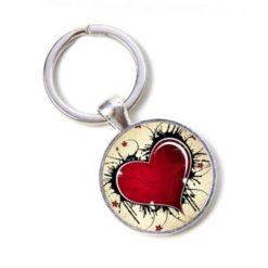 Schlüsselanhänger großes rotes Herz