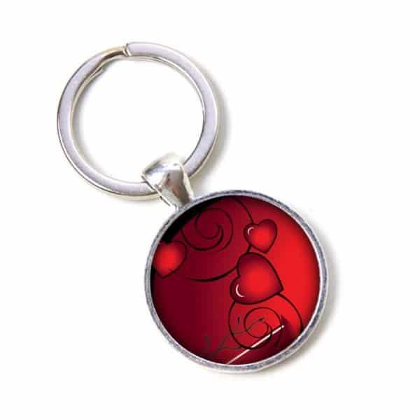 Schlüsselanhänger romantisches rotes Herz