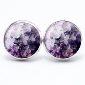Druckknopf / Ohrstecker / Ohrhänger Frühling violet