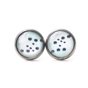 Set Kette mit Ohrringen schwarz türkise Seifenblasen