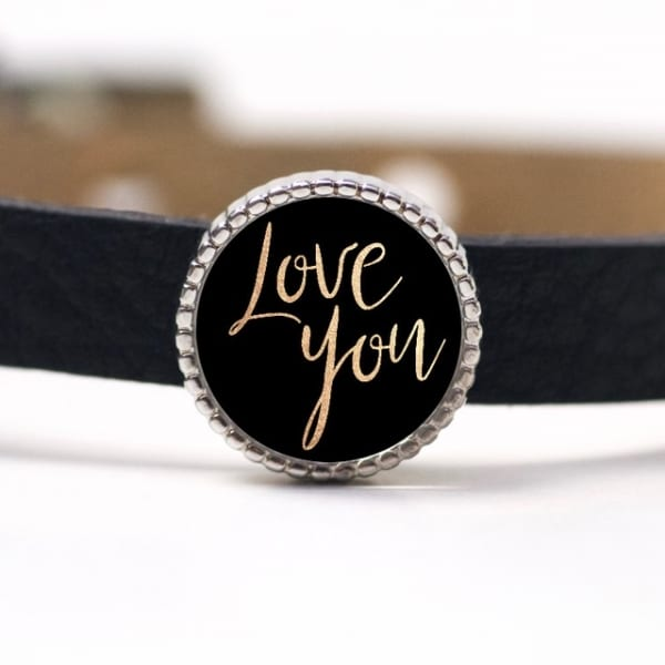Schiebeperle Love you (Liebe dich) Valentinstag