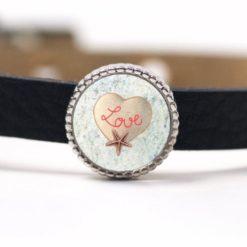 Schiebeperle Love Herz Seestern maritim Valentinstag