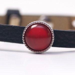 Schiebeperle mit roter glänzender Polaris