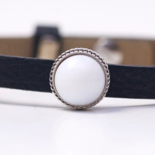 Schiebeperle mit weißer Perle