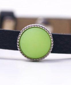 Schiebeperle mit grün matter Polaris Perle