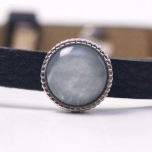 Schiebeperle mit grau glänzender Polaris Perle