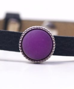 Schiebeperle mit violet matter Polaris Perle