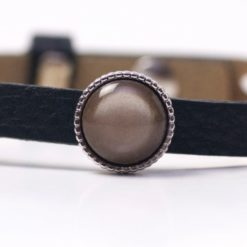 Schiebeperle mit braun glänzender Polaris Perle
