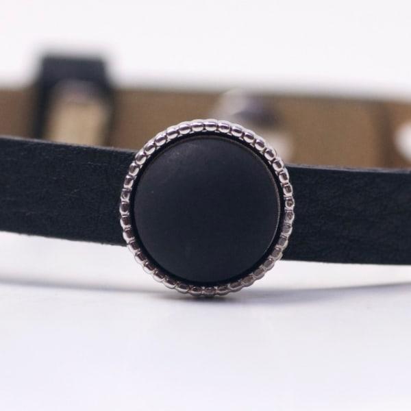 Schiebeperle mit schwarz matter Polaris Perle