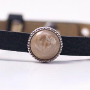 Schiebeperle mit braun schimmernden Polaris Perle