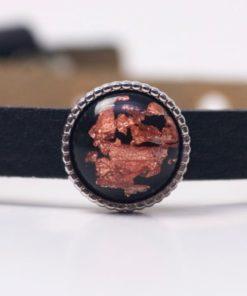 Schiebeperle mit schwarz rotgoldener Polaris Perle