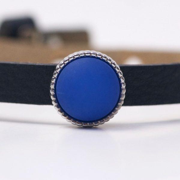 Schiebeperle mit blau matter Polaris Perle