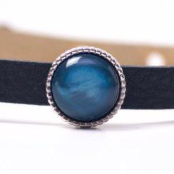 Schiebeperle mit blau glänzender Polaris Perle