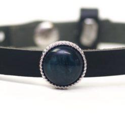 Schiebeperle dunkelgrün schwarz schimmernde Polaris Perle