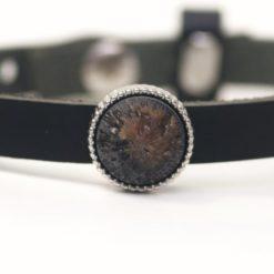 Schiebeperle schwarz braun geeiste Polaris Perle