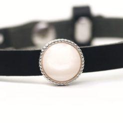 Schiebeperle zart hellrosa schimmernde Polaris Perle