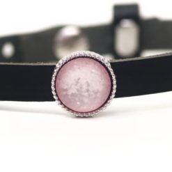 Schiebeperle rosa schimmernd glitzernde Polaris Perle