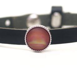 Schiebeperle rosarot schimmernd matte Polaris Perle