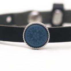 Schiebeperle blaue Mosaik Polaris Perle