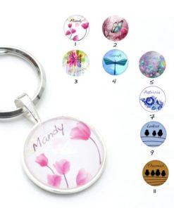 Schlüsselanhänger mit Wunschmotiv und Namen