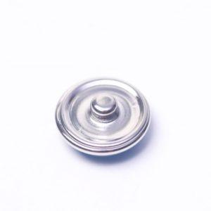 Druckknopf handbemalt in weiß mit schwarzen Punkten