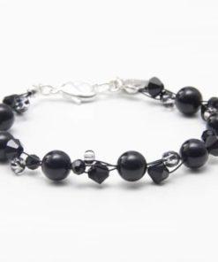 Achat Armband in schwarz